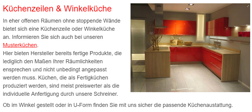 Küchenausstellung in  Feldhorst, Rieps, Niendorf, Groß Molzahn, Utecht, Lüdersdorf, Thandorf und Lockwisch, Schlagsdorf, Selmsdorf