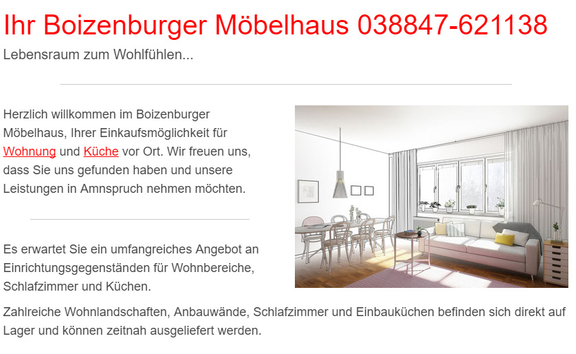 Küchenstudio in Nienwohld - Boizenburger Möbelhaus, Einrichtungshaus: Küchenausstellung, Musterküche, Küchenplaner, Wohnküche, Küchen Möbel